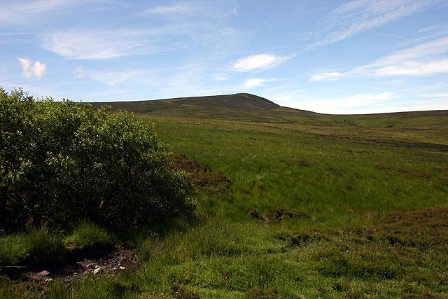 Moorland below Cronk ny Arrey Laa
