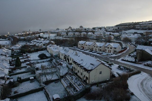 Snow covered Greenock