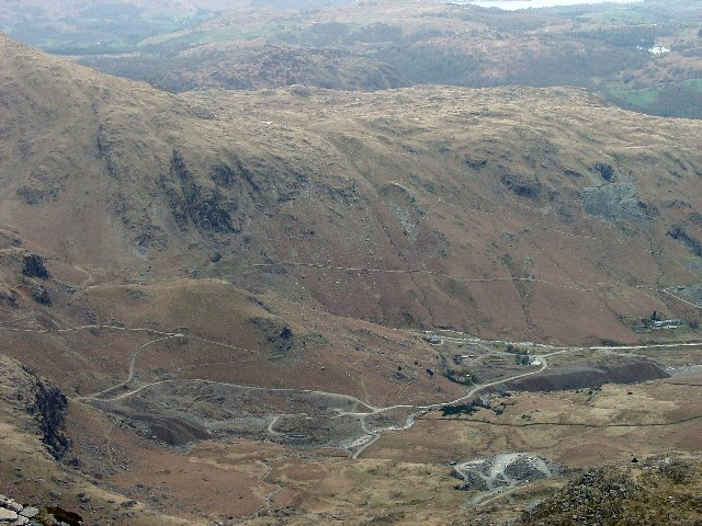 Coniston Coppermines Valley viewed from above