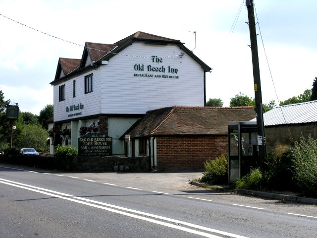 The Old Beech Inn, with public call box