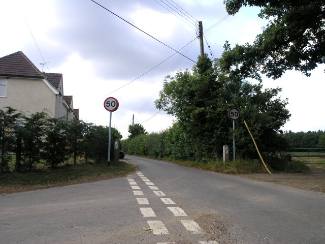 Narrow Country Lane, in the hamlet of New Pound