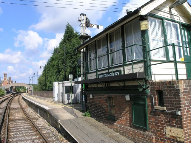 Wateringbury Station and signal box