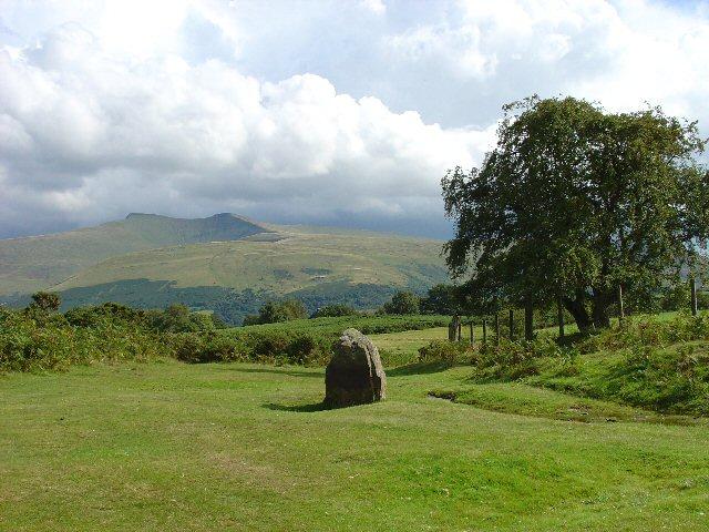 Standing Stone on the Mynydd Illtud