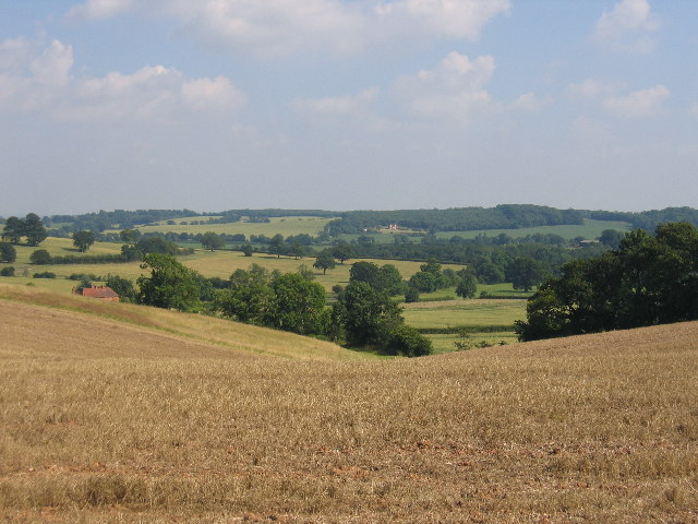 View from the Monarch's Way near Cutler's Farm