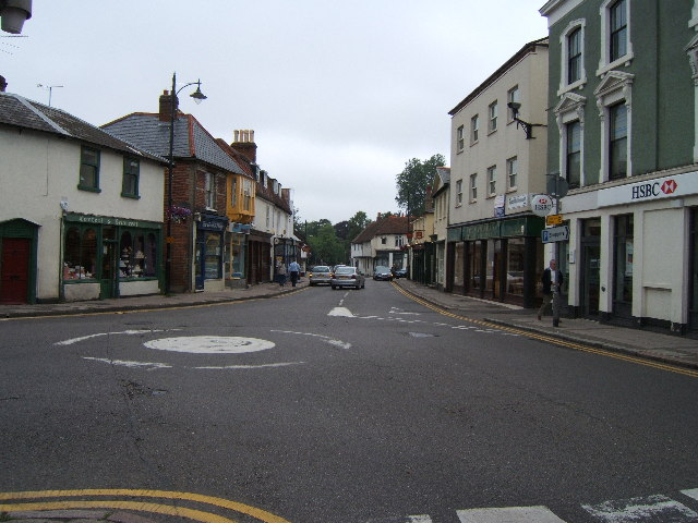 High Street, Ewell - junction with Cheam Road