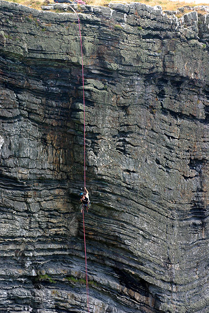 Climbers at The Chasms