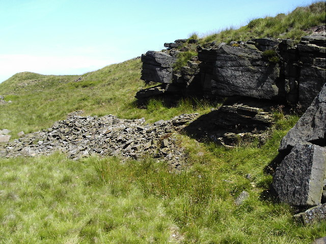 Disused delph at the edge of Ovenden Moor