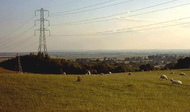 Pylons at Aldington