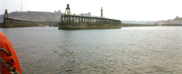 "The ""jaws"" of Whitby Harbour"