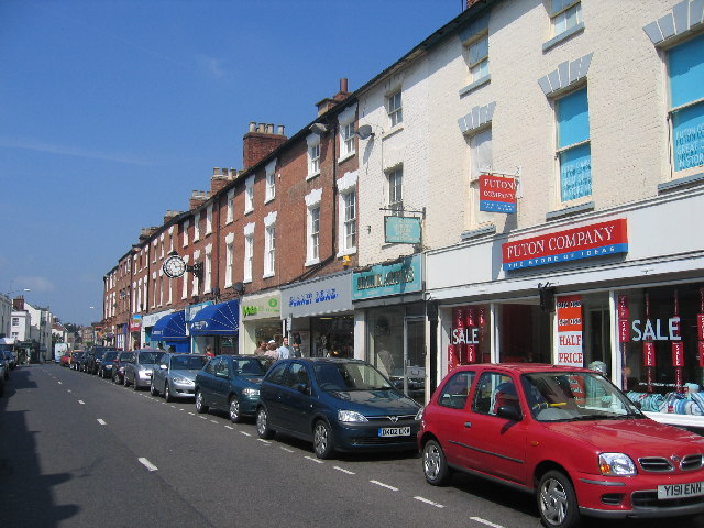 Regent Street, looking west, Royal Leamington Spa