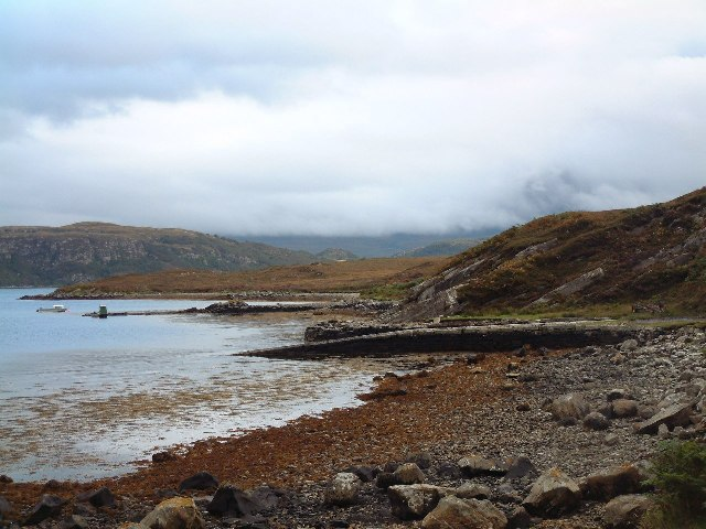 Disused jetties at Achuvoldrach