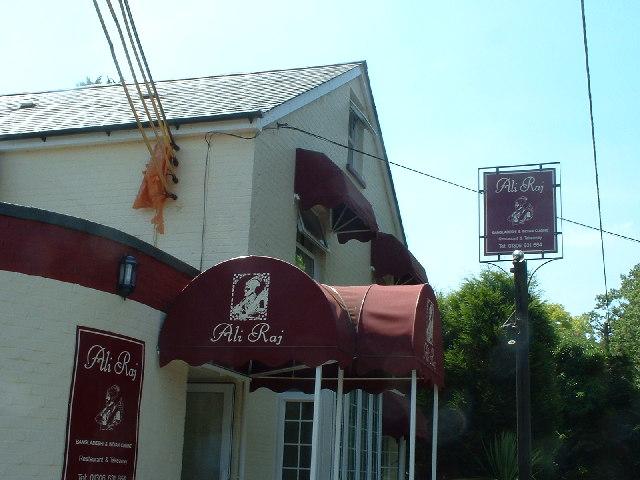 The Ali Raj Indian restaurant at Parkgate