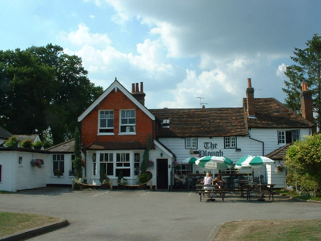 The Plough pub at Leigh