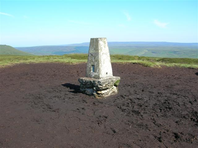 Trig point up on Kinder Plateau