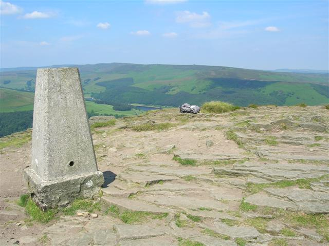 Trig point on top of Win Hill Pike