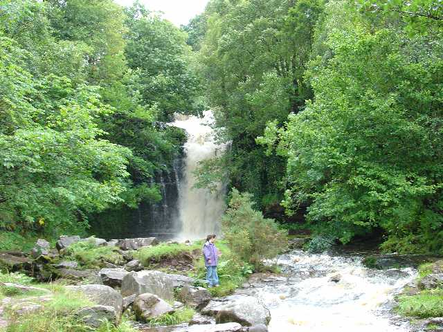 Waterfall on Caerfanell, above Talybont Reservoir