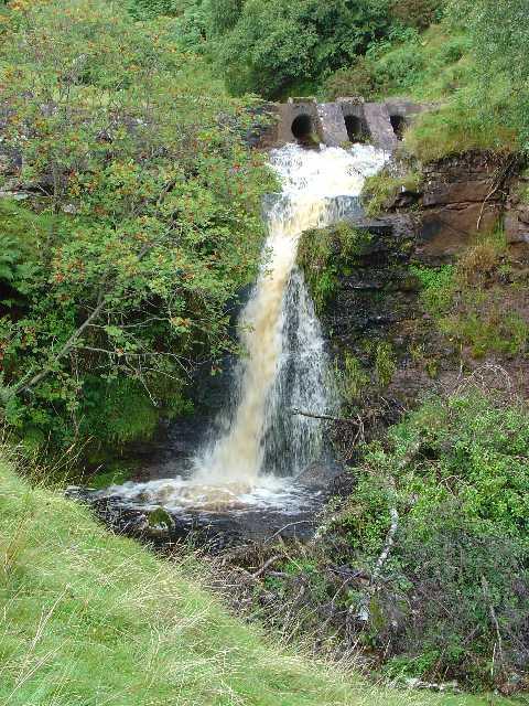 Waterfall between Talybont-on-Usk and Merthyr Tydfil