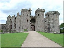 SO4108 : Raglan Castle by Pete Chapman