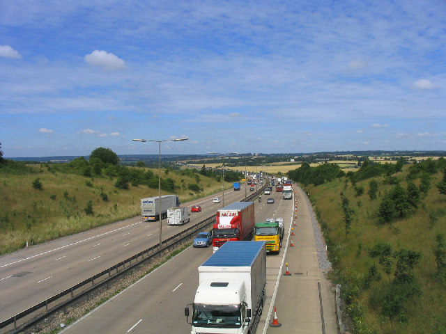M25 Motorway, Navestock, Essex