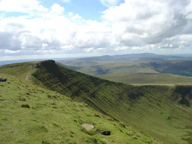 View of Pen y Fan from Cribyn