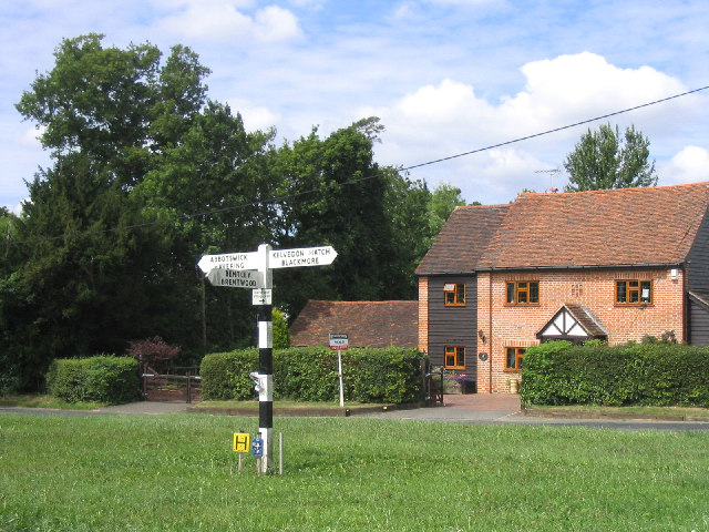 Signpost, Navestock Side, Brentwood, Essex