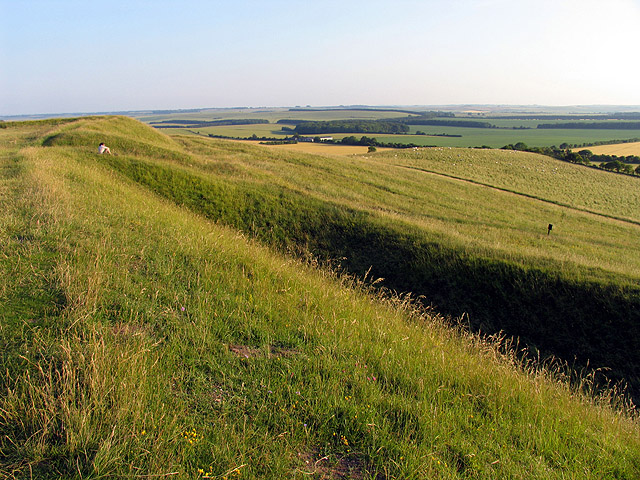 The Western Edge of Uffington Castle Fort