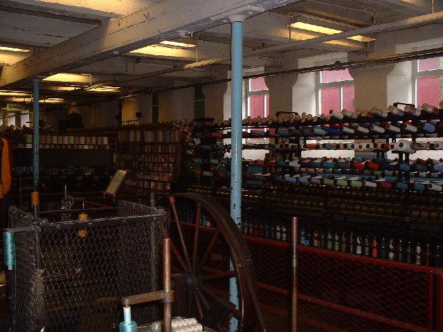 Inside Masson Mills, Matlock Bath