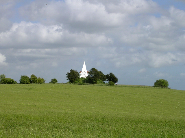 Monument and downland, Farley Mount