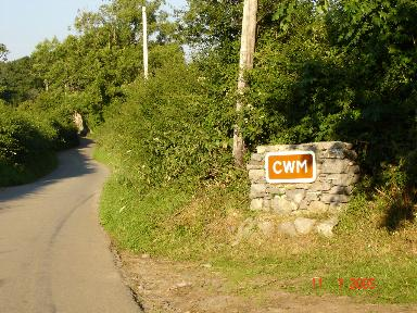 Entrance to Cwm
