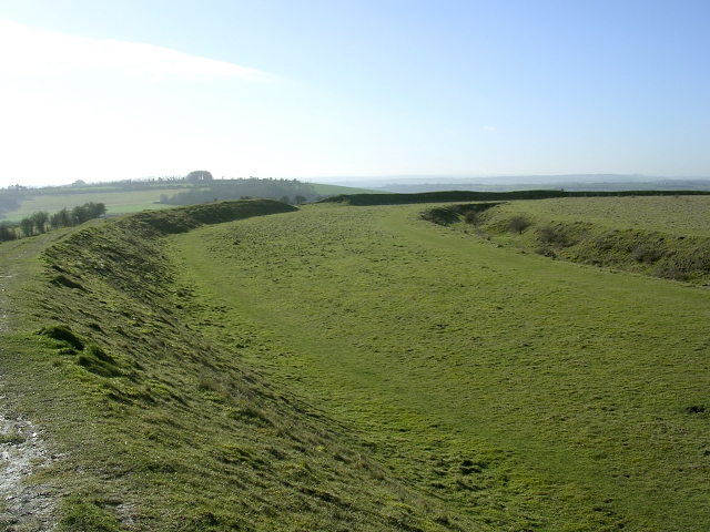 Iron Age earthworks at Figsbury Ring