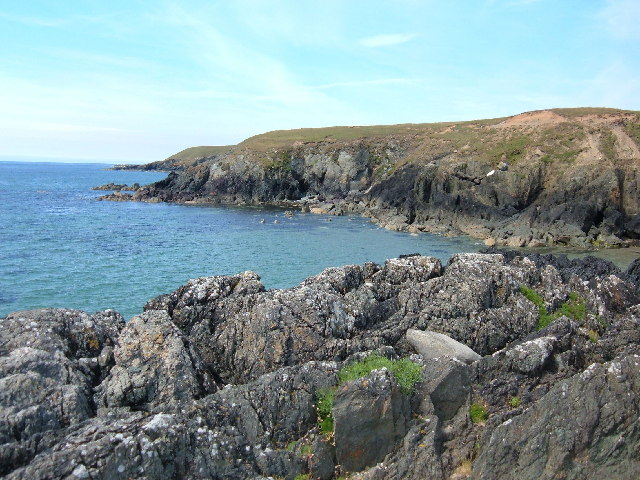 Coastline north of Porth Oer