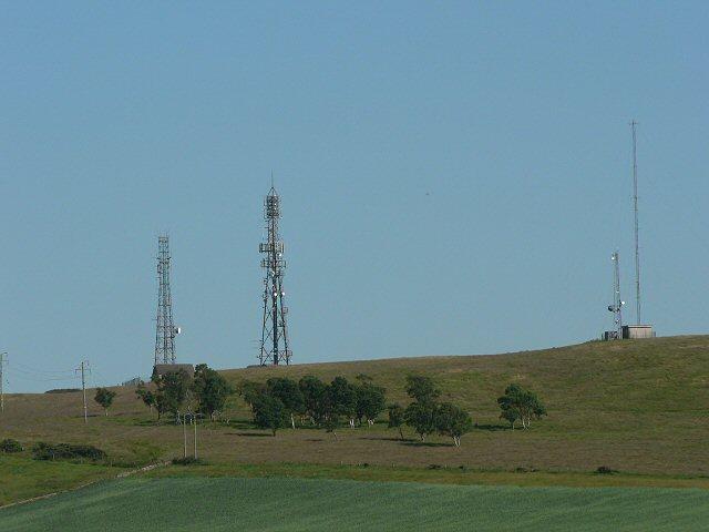 Radio masts on Kirkton Hill
