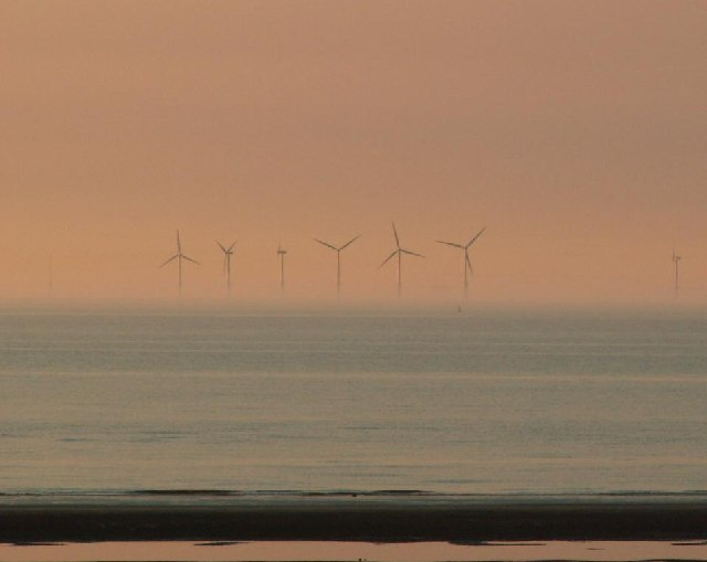 Wind Turbines off Rhyl - Prestatyn