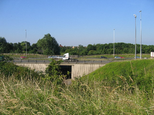 Motorway Bridge Looking Towards Longsands