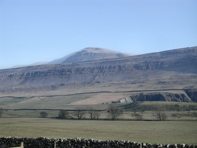 Raven Scar with Ingleborough behind