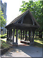 TQ5486 : The Litch Gate, St. Andrew's Church, Hornchurch, Essex by John Winfield