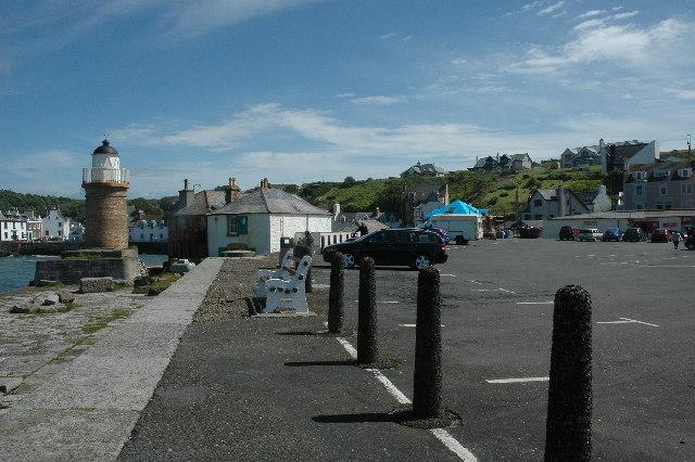 Car park at south end of Portpatrick Harbour