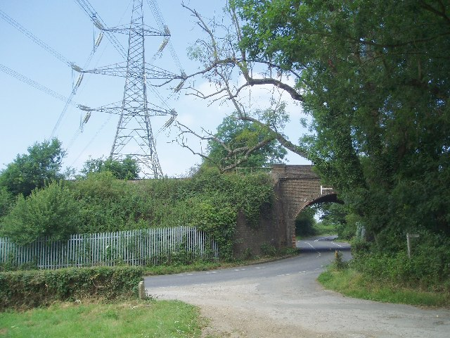 Railway bridge at  Valebridge Road/Rocky Lane