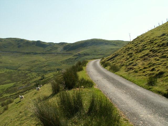 Mountain road, Cwm Ceulan