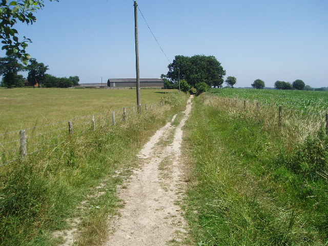 The footpath 'behind the church'