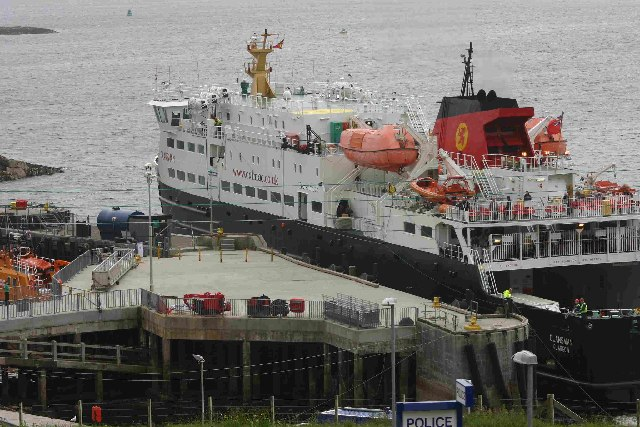 Ferry Docking at Castlebay