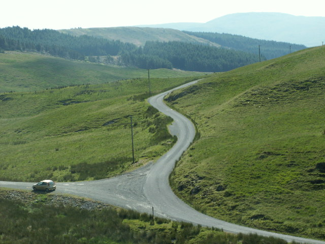 Mountain road, Cwm Ceulan