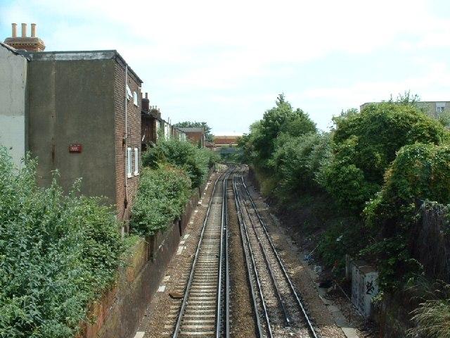 Railway line, St Mary's, Southampton
