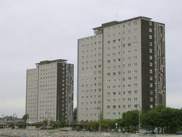 Two prominent tower blocks, Gosport