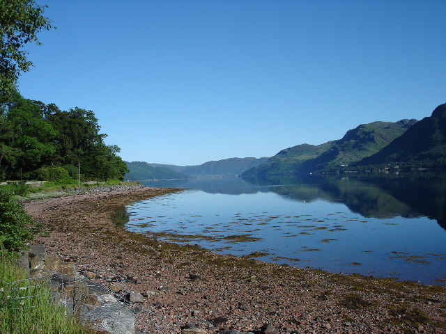 West shore of Loch Duich at Ratagan