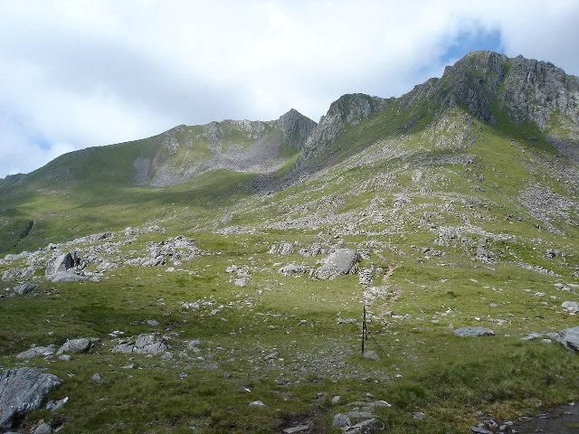 Bealach between The Saddle and Sgurr na Sgine Glen Sheil