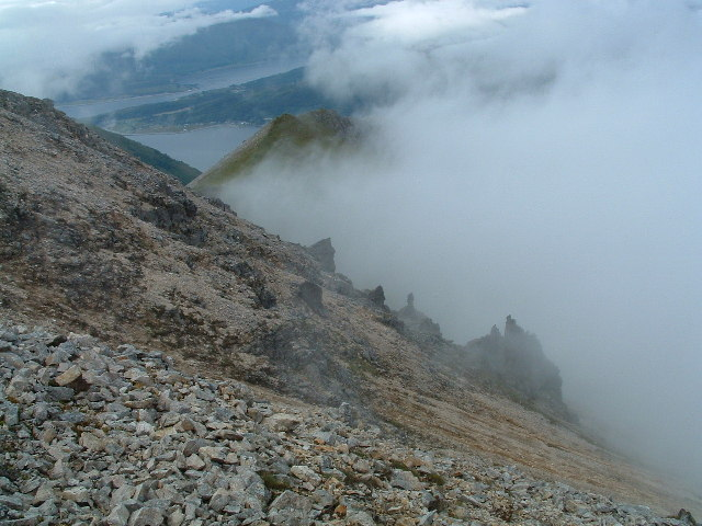 The northern slope of Sgurr Dhonuill (Donald's Peak) on Beinn a' Bheithir (Mountain of the Thunderbolt).