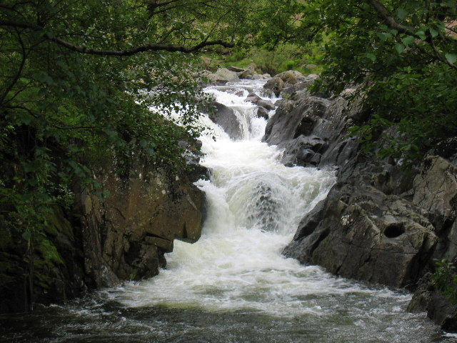 Falls on Langstrath Beck