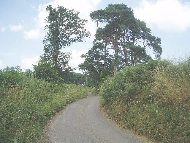 Looking up the road towards Upper Pilstye