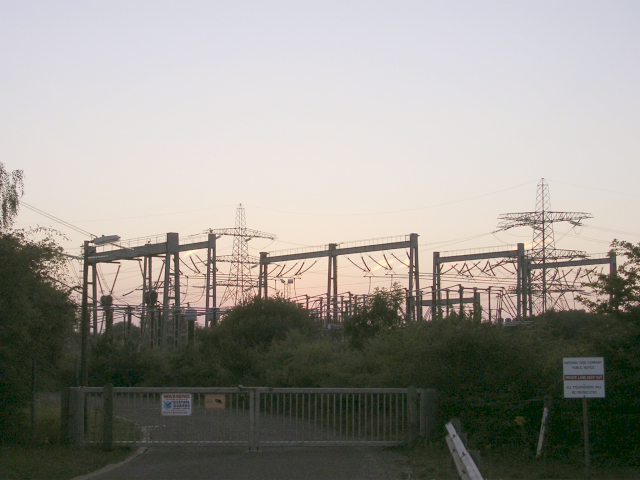 Electricity sub-station, Nursling industrial estate